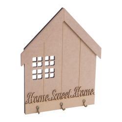 CASA PORTA CHAVE JANELA C/GANCHO HOME SWEET HOME