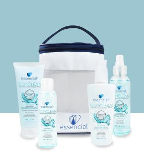 KIT 4 SOFTCLEAN (AGUA MICELAR/BAMBOO EXFOLIATING/SABONETE FACIAL/MINERAL ISOTONIC)