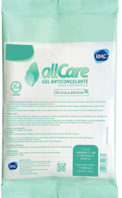 CX C/12 GEL ANTICONGELANTE ALL CARE RMC 10G C/ PELÍCULA 10 X 12 CM