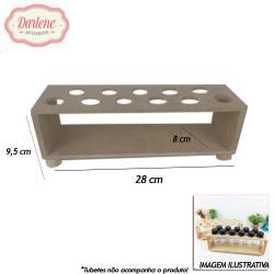 MDF PORTA TUBETE C/11 UN LISO 28X8X9,5