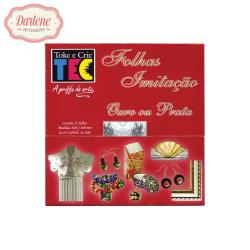 FOLHAS IMITACAO DE PRATA FO-02 COM 25