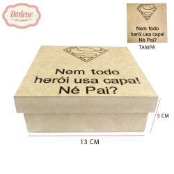 CAIXA T. SAPATO NEM TODO HEROI 13X13X5CM