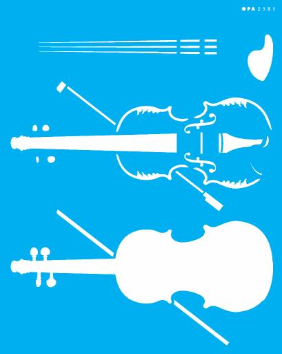 STENCIL SIMPLES 20X25 INSTRUMENTOS MUSIC