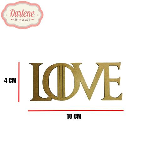 MDF PALAVRA LOVE GAME OF THRONES 9,9X4CM